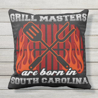 Grill-Meister sind in South Carolina geboren Kissen Für Draußen