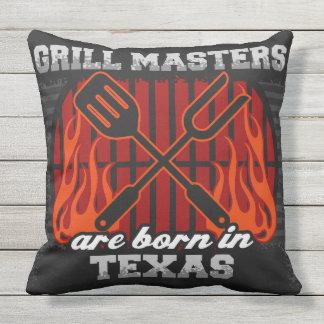 Grill-Meister sind in Texas geboren Kissen Für Draußen