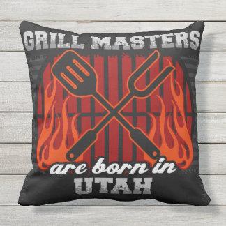Grill-Meister sind in Utah geboren Kissen Für Draußen
