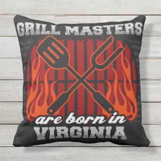 Grill-Meister sind in Virginia geboren Kissen Für Draußen