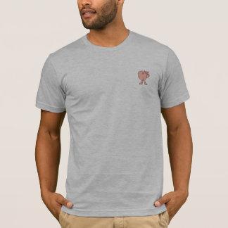 Grill-Schwein-Hintern-Shirt-Grau T-Shirt