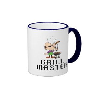 Grill-Vorlagengrill-Mann Ringer Tasse