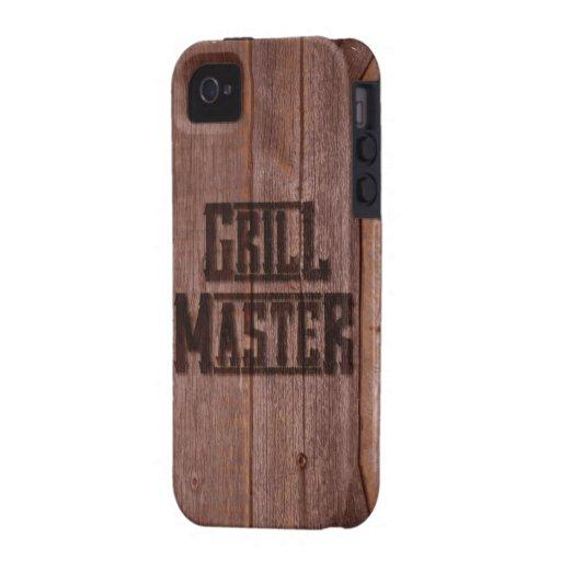 Grill-VorlagenWestern-einbrennendes Eisen auf Holz Vibe iPhone 4 Hüllen