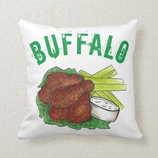 GRILLEN Büffel-New York NY Grill-Hühnerflügel Kissen