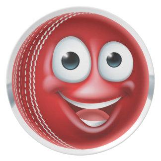 Grillen-Cartoon-Charakter-Ball Teller