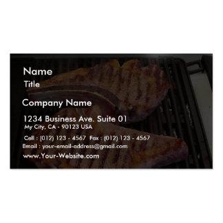 Grillen des Steak-Nahrungsmittelabendessens Visitenkartenvorlage