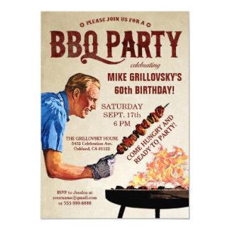 GRILLEN Geburtstags-Party Einladungen