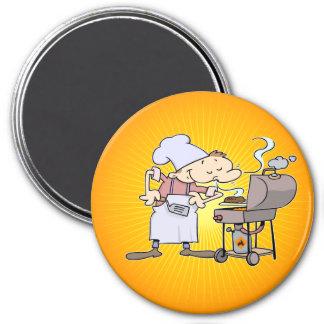 GRILLEN-Koch, der Burger grillt Kühlschrankmagnete