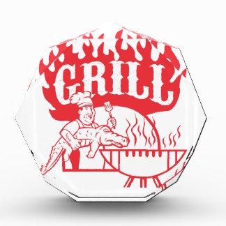 GRILLEN Koch tragen den Retro Alligatorgrill Acryl Auszeichnung