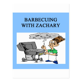 Grillen mit Zachary Postkarte