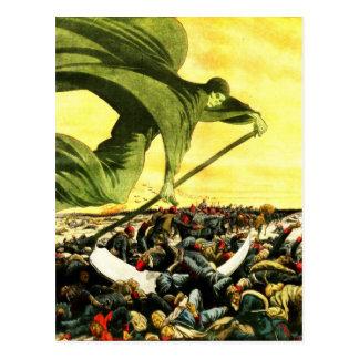 Grimmige Sensenmann-Himmelpostkarte Postkarten