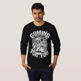 Grimmiger Sensenmann, der für Sie beängstigendes T-Shirt