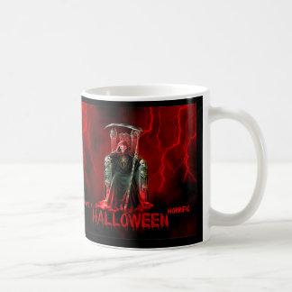 Grimmiger Sensenmann-Halloween-Gruß Kaffeetasse