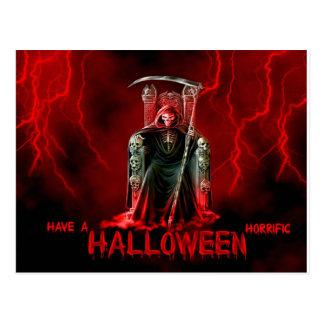 Grimmiger Sensenmann-Halloween-Gruß Postkarten