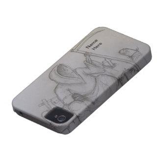Grimmiger Sensenmann-Todesbleistift, der Case-Mate iPhone 4 Hülle