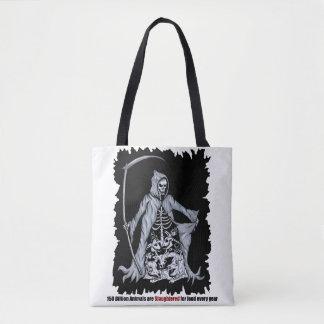 Grimmiger Sensenmann-vegane Tasche