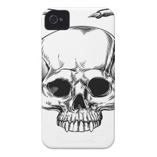 Grimmiger Sensenmann Winged Schädel iPhone 4 Etuis