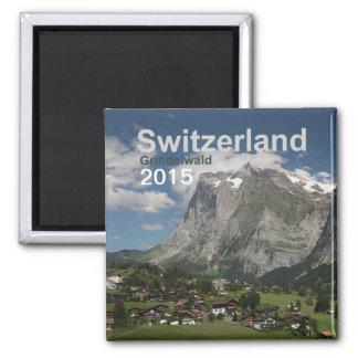 Grindelwald die Schweiz Magnet-Änderungs-Jahr Quadratischer Magnet