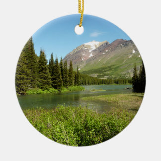 Grinnell Nebenfluss am Glacier Nationalpark Keramik Ornament