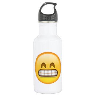 Grinsen - Emoji Edelstahlflasche