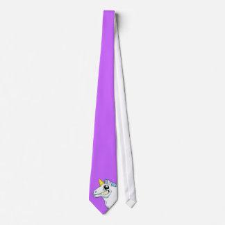 Grinsende Einhorn-Krawatte Personalisierte Krawatten