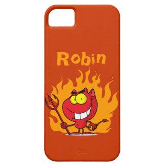 Grinsender Teufel mit Heugabel iPhone 5 Etui