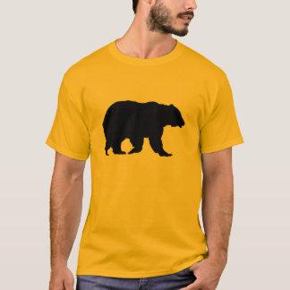 Grizzly-Bärn-gehende schwarze Silhouette T-Shirt