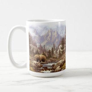 Grizzly-Bärn-Landschaft 15 Unze-Tasse Kaffeetasse