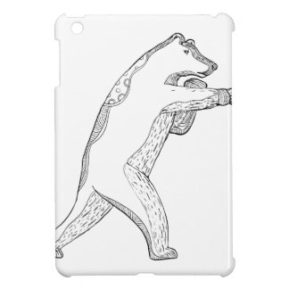 Grizzlybär-boxende Gekritzel-Kunst iPad Mini Hülle