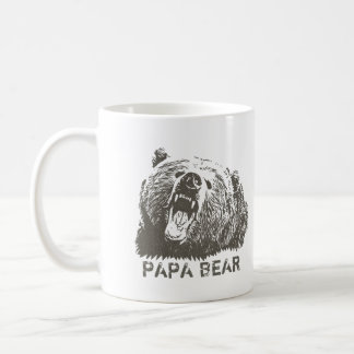 Grizzlybär-Brüllen-Papa-Bär Kaffeetasse