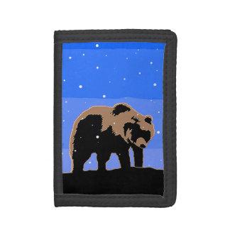 Grizzlybär im Winter - ursprüngliche Tier-Kunst