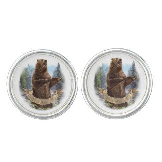 Grizzlybär-Manschettenknöpfe Manschetten Knöpfe