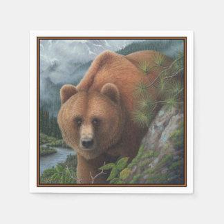 Grizzlybär Papierservietten