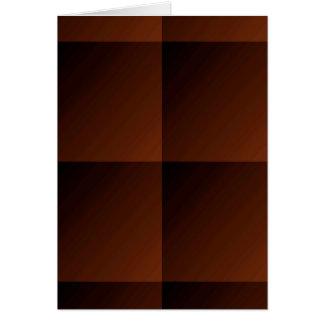 Grobe Brown-Flanell-Karo-Blick-Quadrate Karte