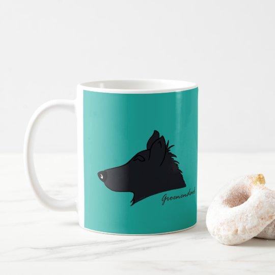 Groenendael Kopf Silhouette Kaffeetasse