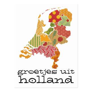 Groetjes Uit Holland Province Map Patchwork Style