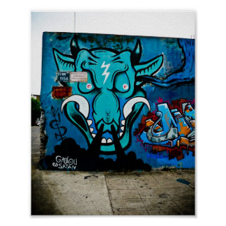 Grolou ist Satan - Buenos- Airesstraßen-Künstler Poster