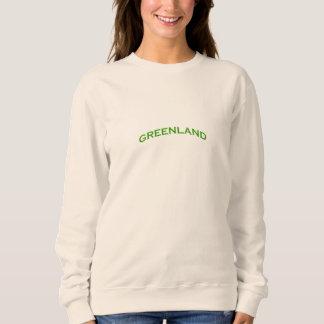 Grönland-Bogen-Text Sweatshirt