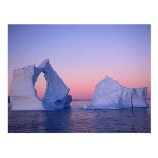 Grönland, Eisberg am Sonnenuntergang Postkarte