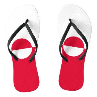 Grönland-Flagge Flip Flops