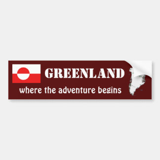 Grönland-Flagge + Karten-Autoaufkleber Autoaufkleber