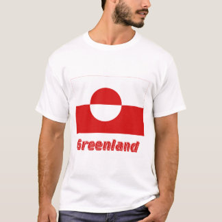 Grönland-Flagge mit Namen T-Shirt