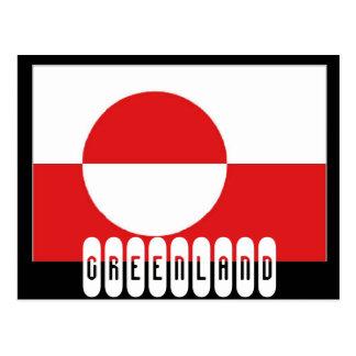 Grönland-Flagge Postkarte