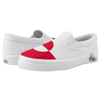 Grönland-Flagge Slip-On Sneaker