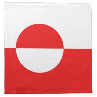 Grönland-Flaggen-Serviette Serviette
