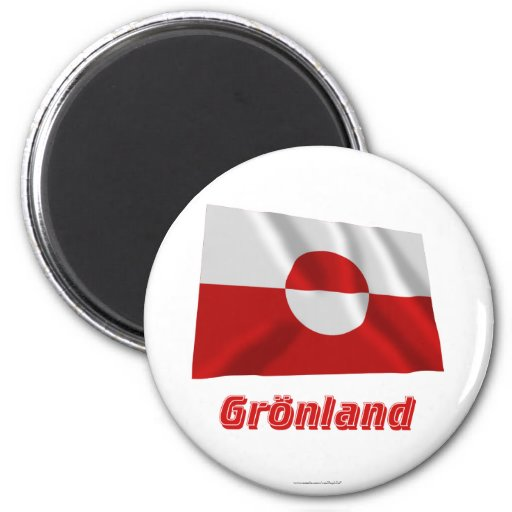 Grönland Fliegende Flagge MIT Namen Kühlschrankmagnete