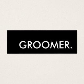 Groomer. LoyalitätsLochkarte Mini Visitenkarte