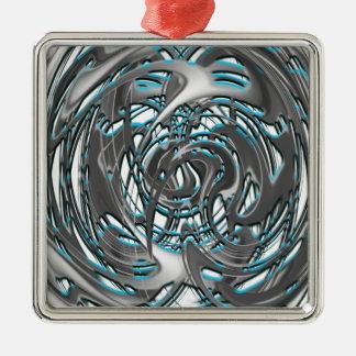 groovie Zug Quadratisches Silberfarbenes Ornament