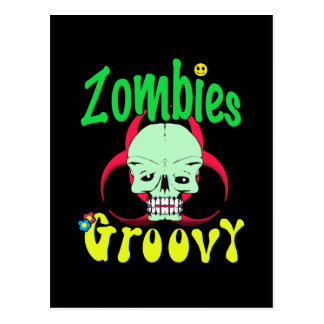 Groovy 70er 1 der Zombies Postkarte