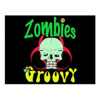 Groovy 70er 1 der Zombies Postkarten